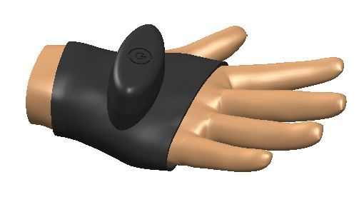 Vibrobracelet to improve blood circulation in limbs